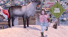 and....i was photobombed (Emery/Teagan Parker) Tags: little miss prtty the forest fanzy reindeer rude color me cute