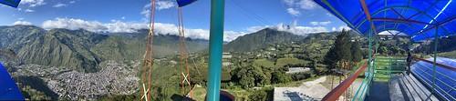 The Swing to Heaven (el Columpio al Cielo) at 2,660 meters (8,727 feet) above sea level, Baños, Central Highlands, Ecuador.
