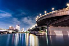 Yumeno-ohashi at night. (Akira.Tagawa_JPN)) Tags: yumeno ohashi ariake tokyo japan night akira tagawa 夢の大橋 青海橋 アキラ タガワ 有明 東京 夜