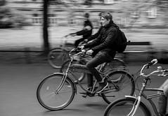 Bike rider (annabed) Tags: bike bicycle panning krakow poland polska ulica street streetphotography nikkon blackandwhite bw movement dynamic