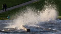 Splash -  storm surge in Cuxhaven (oliver_hb) Tags: cuxhaven grimmershörnbucht strurmflut sturm nordsee
