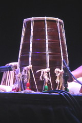 Barrel Drums 19: Dholak (of Karam Hussain) (KM's Live Music shots) Tags: musicalinstrument hornbostelsachs membranophone dholak drums india pakistan nepal abidaparveen barbican