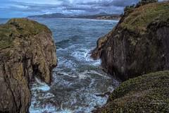 Coastal View (ExpressionOfJoy) Tags: seascape nature pacificocean pacificnorthwest oregoncoast oregonstate yaquinalighthousearea cliff lava newport newportoregon basaltpennisula