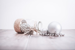 351/365 Baubles & Beads (belincs) Tags: stilllife indoors g beads chrismas flash december baubles lincolnshire 365 oneaday 2019 uk bottle