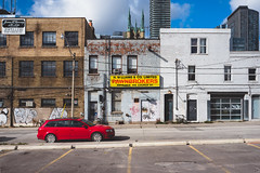 for.the.time.being (jonathancastellino) Tags: toronto dalhousie street vernacular red audi leica q sky cloud clouds downtown ordinary architecture series parking lot ngc