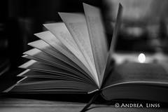 still life ... (andrealinss) Tags: schwarzweiss blackandwhite bw availablelight detail book livre buch andrealinss 35mm