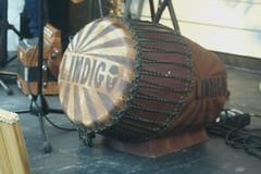 Barrel Drums 08: Roulér (of Lindigo musician) (KM's Live Music shots) Tags: musicalinstrument hornbostelsachs membranophone rouler bassdrum drums lareunion lindigo thescoop