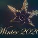 Schneeflocke mit Text Winter 2020
