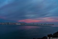 amaneceres melillenses (EXPLORE) (josmanmelilla) Tags: melilla agua amaneceres amanecer cielo rojo mar españa