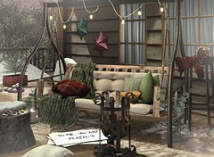She remembered who she was, and the game changed (Trixie Lanley) Tags: concept kustom9 sl secondlife decor cabin porch winter snow christmas holiday brocante tree floorplan collabor88 peaches flf whatnext halfdeer