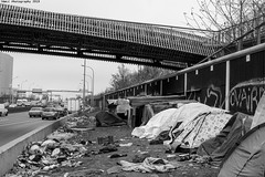 """Ghost Children Place 22"" (TBWLC Photography) Tags: fdrouet tbwlc slum bidonville nb bw monochrome refugiés refugees street rue nikon d610 aubervilliers migrantcamp campdemigrants"