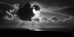 Jurassic Coast Seascape,  Abbotsbury, West Dorset (M.T.A.V) Tags: canon coast coastline southcoast britishcoast dorset jurassiccoast water seaside sea seascape clouds cloud weather winter wind cold light sun shadow silhouette bw blackandwhite blackwhite black white monochrome canoneos750d canon750d efs1855mm england photography photograph ray sunshine dark westdorset south 18mm