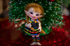"""Merry """"almost"""" Christmas! 🎄 (Dotsy McCurly) Tags: crazytuesday christmasdecoration hct happycrazytuesday fairy elf doll bjd christmas tree sparkle bokeh canoneos80d efs35mmf28macroisstm"""