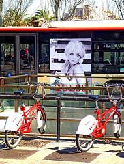 Advertisement on a city bus (chrisk8800) Tags: citybus advertisement bikes barcelona
