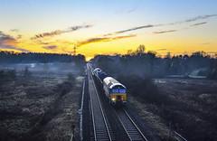 57308 in the mist at Lea Marston (robmcrorie) Tags: 6d65 57308 jamie ferguson class 57 drs bescot toton departmental lea marston river tame warwickshire sunset nikon d850