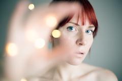Lets go back to the start (elsvo) Tags: self selfportrait woman bokeh eye redhead blueeyes