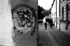 Normann was already here (Leica M6) (stefankamert) Tags: film analog grain graffiti freising leica m6 leicam6 summitar kodak trix people blackandwhite blackwhite bw analogue noiretblanc street scr
