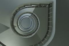 Von unten hell :-) (Elbmaedchen) Tags: staircase stairs stairwell stufen spirale steps escaliers escaleras upanddownstairs unterwegsmitfotopetra treppenhaus treppenauge treppe schnecke spiral roundandround drehwurm architektur architecture interior lübeck