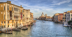 Grand Canal (Jan Kranendonk) Tags: santamariadellasalute grand canal grande venice italy itailan european water river houses buildings europe mansions palazzo historical culture church religion boats santamariadellasalutesalute boating bollards dome landmark gondola sunset warm light ngc