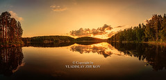 Lightroom-531 (Fin.travel) Tags: repovesi sunset finland lightroompanorama panorama 1424mm topaztextureeffects textureeffects nationalpark sky lake reflection forest