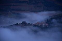DSC_2661 (griecocathy) Tags: paysage village ruine château brume champs blanc vert marron beige gris