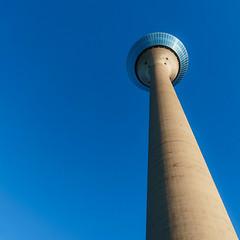 Rheinturm (frankdorgathen) Tags: alpha6000 sony18200mm banal mundane minimalismus minimalistic minimalism blau bluesky düsseldorf rheinland tower rheinturm