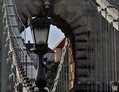 On the bridge Color or .... (wilma HW61) Tags: kleur brug brüge bridge pov compositie composition detail details lantaarnpaal lantern lamp lanterne ampoule lanterna lampadina lámpás izzó híd kettingbrug boedapest budapest hungary hongrie hongarije ungheria magyarország europa europe outdoor nikond90 wilmahw61 wilmawesterhoud