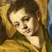L'enfant, détail de l'Assomption de la Vierge du Greco (Grand Palais, Paris)