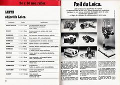 Publicité Leitz (Cletus Awreetus) Tags: publicité appareil photo camera compact leitz leica format135 objectif lens liste m5 leicaflex projecteur pradovit agrandisseur focomat reflex slr