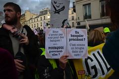 Manifestation du 17 décembre 2019 contre la réforme des retraites (Jeanne Menjoulet) Tags: manifestation manif retraites pensions demonstration paris france décembre2019 réforme macron banques banquier