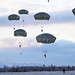 Paratroopers conduct a parachute jump on Malemute drop zone at Joint Base Elmendorf-Richardson