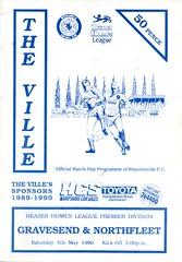 Waterlooville v Gravesend & Northfleet (Havant & Waterlooville) Tags: havant waterlooville gravesend northfleet ebbsfleet united southern league football programme