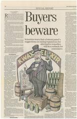 Hamilton Spectator Tearsheet (mackaycartoons) Tags: newspaper news print graememackaytearsheet tearsheet hamiltonspectator alternative medicine probiotics snakeoil salesman quack doctor