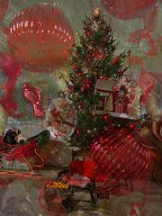 Christmas Dreams (kfocean01) Tags: christmas holiday red filters photoshop photomanipulation awardtree netartii abstract art creativephotography