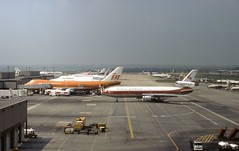 Gatwick Panorama with World McDonnell Douglas DC-10 N103WA and Braniff Boeing 747 N601BN in the foreground (heathrow.junkie) Tags: lgw londongatwick gatwick braniff 747 boeing747 n601bn n103wa worldairways douglasdc10 dc10 london