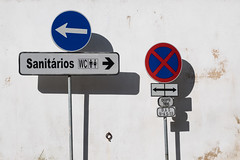 'You Decide' (Canadapt) Tags: sign street wall wc sanitrios directions arrows x cross sintra portugal canadapt