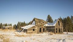 Westlake Farmhouse (Rustic Lens Photography) Tags: idaho prairie a7r2 abandoned country farm rural snow sony winter house