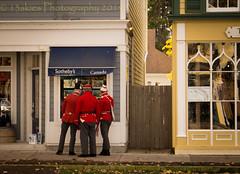 Perhaps It Was Yesterday (HWW) (13skies) Tags: happywindowwednesday old notl niagaraonthelake windows shopping street uniforms soldiers past present hww windowwednesday sonya57 sony