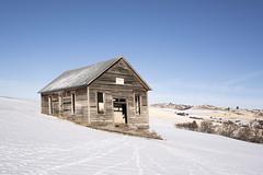 Stock Creek Schoolhouse (Rustic Lens Photography) Tags: idaho prairie a7r2 abandoned country farm landscape rural schoolhouse snow sony winter