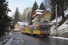 Avenue Centrale - Ollon - Arveyes,  BVB Beh 4/8  93 (peter.velthoen) Tags: vaud petervelthoen suisse bvbbeh4893 bvb avenuecentrale sneeuw winter straat neige hiver rue ollon arveyes