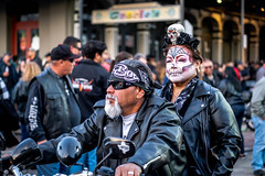 2019 Lone Star Rally (burnt dirt) Tags: galveston texas candid documentary street photography downtown city urban metro the strand outdoor people person fujifilm xt3 fujinon 50mm f2 style fashion life real crowd group emotion expression portrait close motorcycle bike biker harley davidson couple skull dia de los muertos beard
