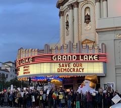 Impeachment Eve Rally - Oakland, CA (Ingrid Taylar) Tags: saveourdemocracy impeach lakemerritt protest impeachment explore california oakland impeachmenteve rally grandlaketheater impeachandremove