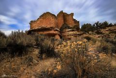 Cutthroat Castle, Hovenweep (Matt Straite Photography) Tags: ruin indian pueblo anasazi colorado national monument castle ancient color desert tripod slow clouds