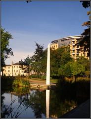 Hull (Lotsapix) Tags: hull humber park lake water sculpture bbc reflections