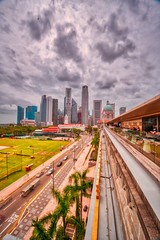 Clouds hovering over the CBD area in Tanjong Pagar, Singapore (The Elephant's Tales Photography) Tags: singapore cityscape tanjongpagar cbd nationalgallery clouds cloudy