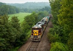 OC ZVL (Carlos Ferran) Tags: oc ohio central super 7 b23s7 ge locomotive zvl zanesville cambridge local norwich oh maroon summer muggy