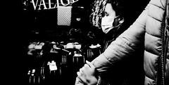 Guiding hand. (Baz 120) Tags: candid candidstreet candidportrait city contrast street streetphoto streetcandid streetportrait strangers rome roma ricohgrii europe women monochrome monotone mono noiretblanc bw blackandwhite urban life portrait people provoke italy italia grittystreetphotography faces decisivemoment