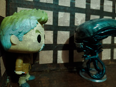 Old Friends (Black Rose Bride) Tags: doctorwho funkopop alien xenomorph toys wardoctor