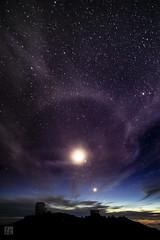 Haleakalā National Park Night 4 (lycheng99) Tags: nightphotography night nightvision quietnight starrynight haleakalānationalpark haleakalā nationalpark sky clouds moon seaofclouds nature landscape travel explore longexposure hawaii maui light peak observatory telescope