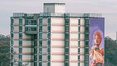 Apartment building / mural / Atlanta (swampzoid) Tags: mural apartment building midrise apartments atlanta africanamerican dwellings city